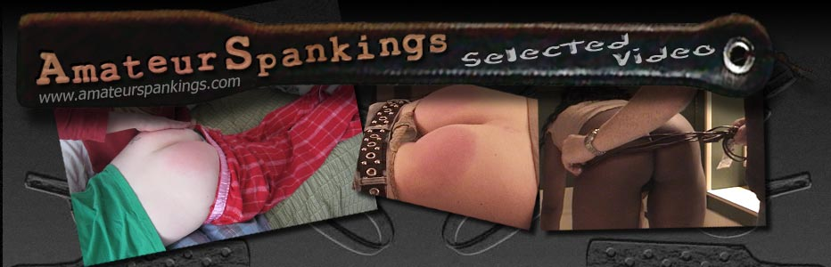 Amateur Spankings selected video page header